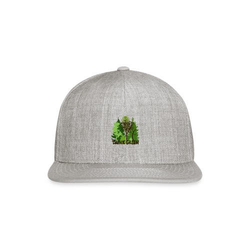 EARTHDAYCONTEST Earth Day Think Green forest trees - Snap-back Baseball Cap