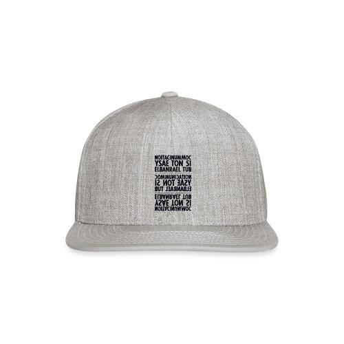 communication black sixnineline - Snap-back Baseball Cap