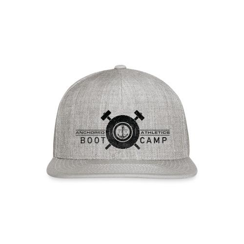 Anchored Bootcamp black logo - Snap-back Baseball Cap