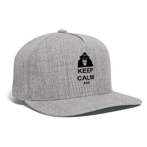 KEEP CALM MONKEY CUSTOM TEXT - Snapback Baseball Cap