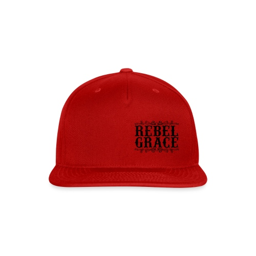 Black Filigree - Snap-back Baseball Cap