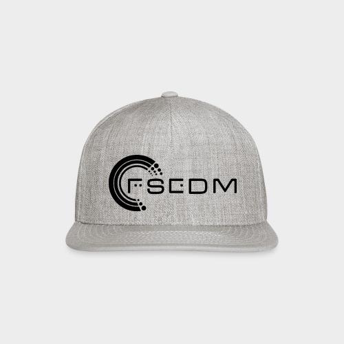 FSEDM 2015 Logo Black png - Snap-back Baseball Cap