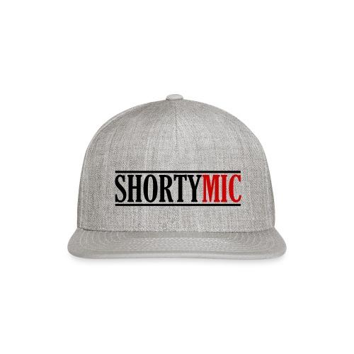 Shorty Mic - Logo - Black & Red - Snapback Baseball Cap