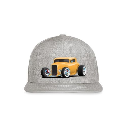 Classic American 32 Hotrod Car Illustration - Snapback Baseball Cap