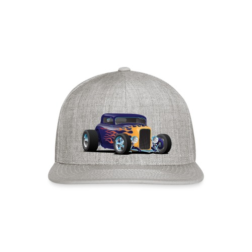 Vintage Hot Rod Car with Classic Flames - Snap-back Baseball Cap