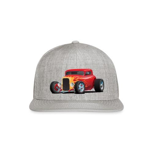 Classic Bold Red Custom Street Rod - Snap-back Baseball Cap