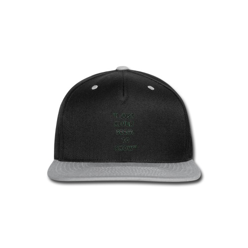 know png - Snap-back Baseball Cap