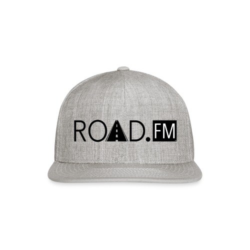 Road FM logo black Front & Back - Snapback Baseball Cap