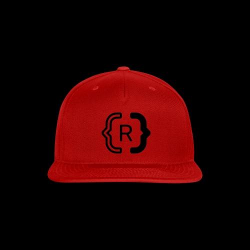 square black reswitched R logo bmx3r - Snap-back Baseball Cap