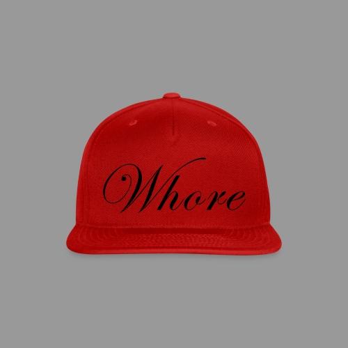 Whore - Snap-back Baseball Cap