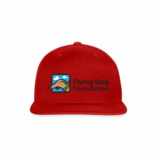 Flying Dog Black Font - Snapback Baseball Cap