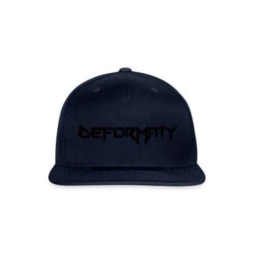 Deformaty Logo Black - Snap-back Baseball Cap