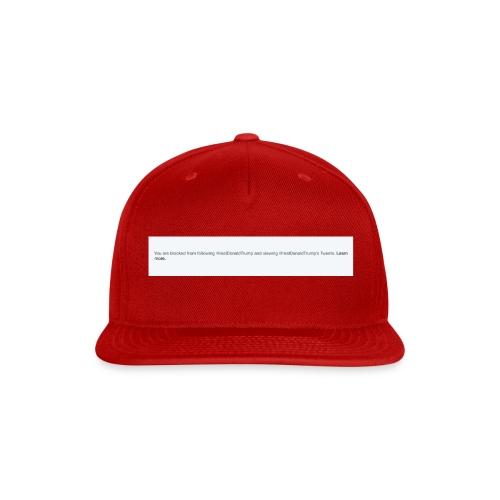 Blocked by Donald Trump on Twitter - Snap-back Baseball Cap