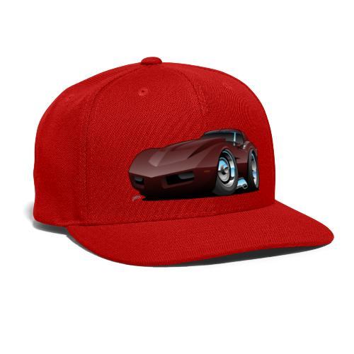 Classic Seventies American Sports Car Cartoon - Snap-back Baseball Cap
