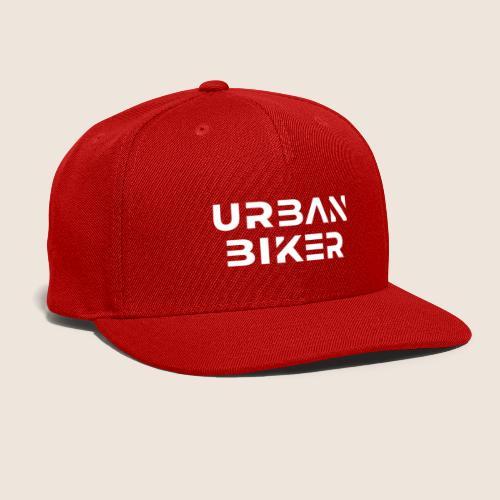 Urban Biker White - Snapback Baseball Cap