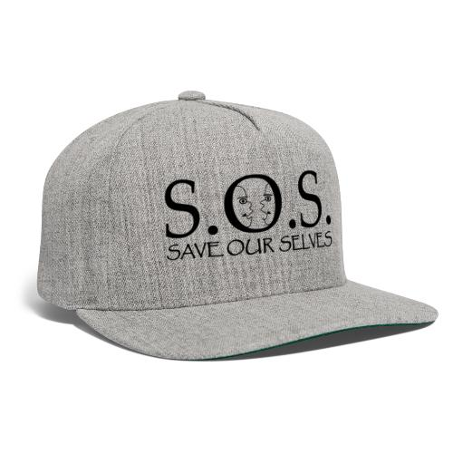 SOS Black on Black - Snapback Baseball Cap