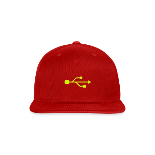 Yellow USB Logo Mid - Snap-back Baseball Cap