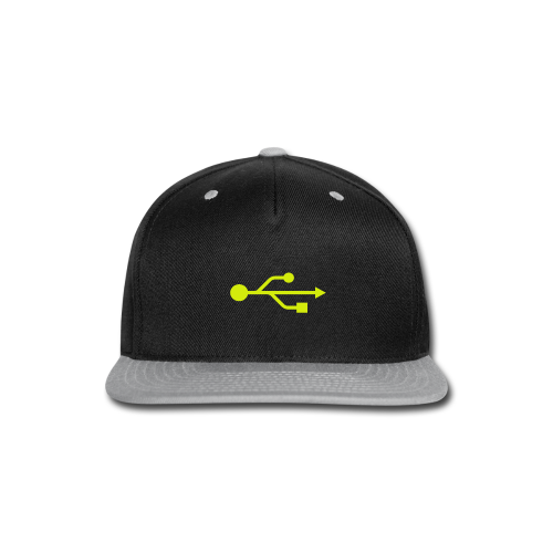 Yellow USB Logo Mid - Snap-back Baseball Cap