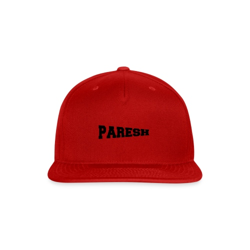 Paresh - Snap-back Baseball Cap