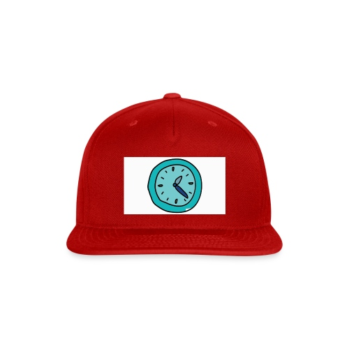 When the clock strikes: Caps, Men's hoodie and wom - Snap-back Baseball Cap