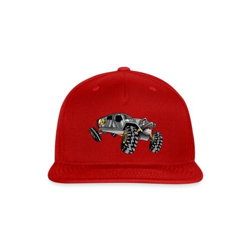 Rock Crawling Monster Truck Silver - Snap-back Baseball Cap