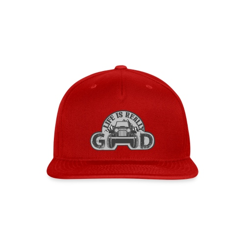 Life Is Really Good Jeep - Snap-back Baseball Cap