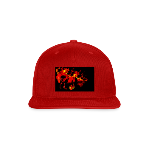 flaming horse - Snap-back Baseball Cap