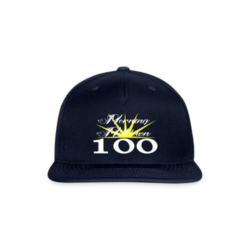 Morning Meltdown 100 (white lettering) - Snapback Baseball Cap