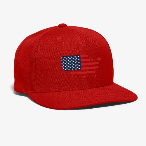 USA flag map red, white & blue - Snap-back Baseball Cap