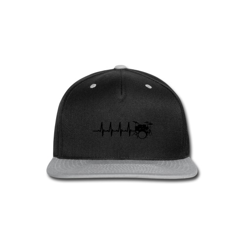 Drums Heartbeat Funny drummer - Snap-back Baseball Cap