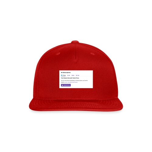 twitch prime - Snap-back Baseball Cap