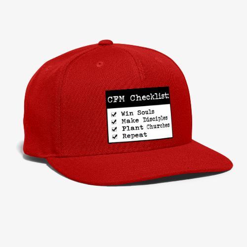 CFM Checklist - Snap-back Baseball Cap