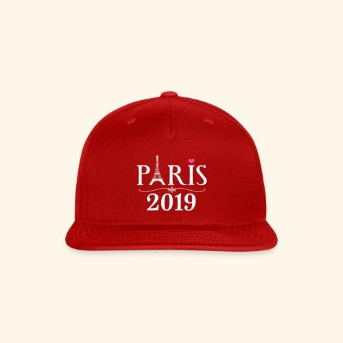 Paris France 2019 Eiffel Tower - Snap-back Baseball Cap