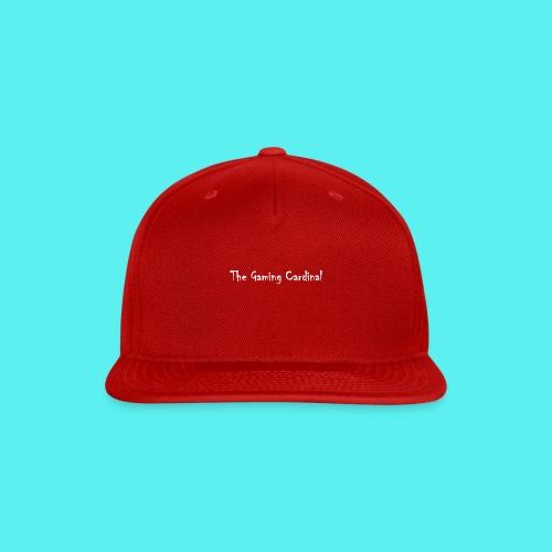 white logo text - Snap-back Baseball Cap