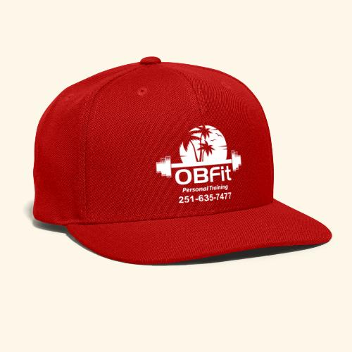 OB Fit with pn white personal training - Snap-back Baseball Cap