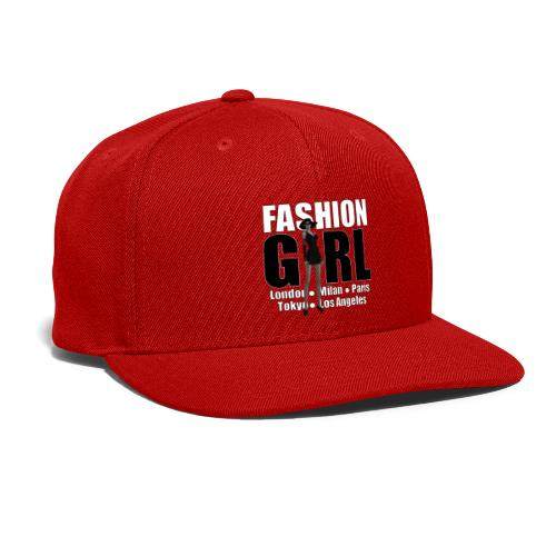 The Fashionable Woman - Fashion Girl - Snap-back Baseball Cap