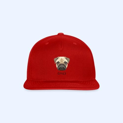 Cute Watercolor Pug Face Definition - Snap-back Baseball Cap