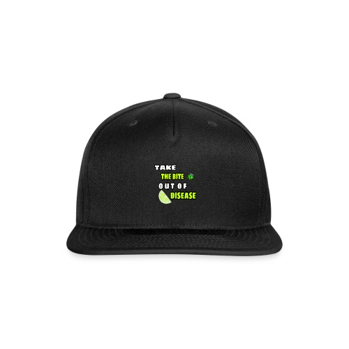 Take the bite out of Lyme's Disease - Snap-back Baseball Cap