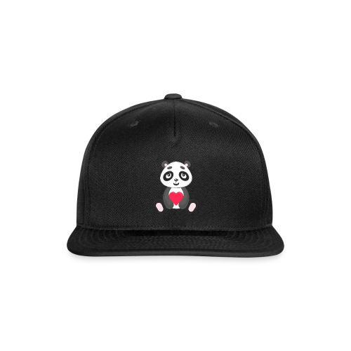 Sweetheart Panda - Snap-back Baseball Cap