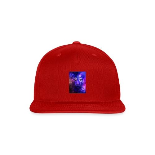 glowing leopard - Snap-back Baseball Cap