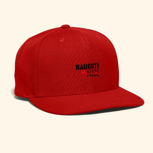 Naughty Or Nice Adult Humor Design - Snap-back Baseball Cap