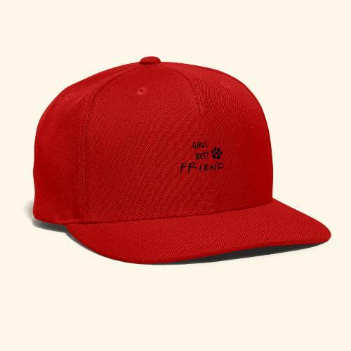 girls best friend Paw Print - Snap-back Baseball Cap