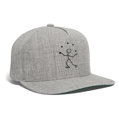 Stickman Juggler on Light Shirt - Snapback Baseball Cap