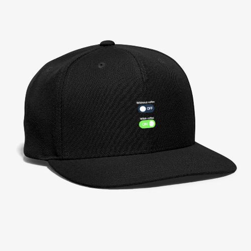 Coffee Lover T-Shirt - Snap-back Baseball Cap