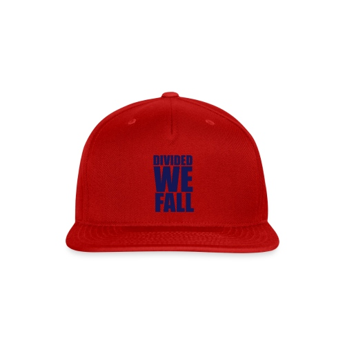 DIVIDED WE FALL - Snap-back Baseball Cap