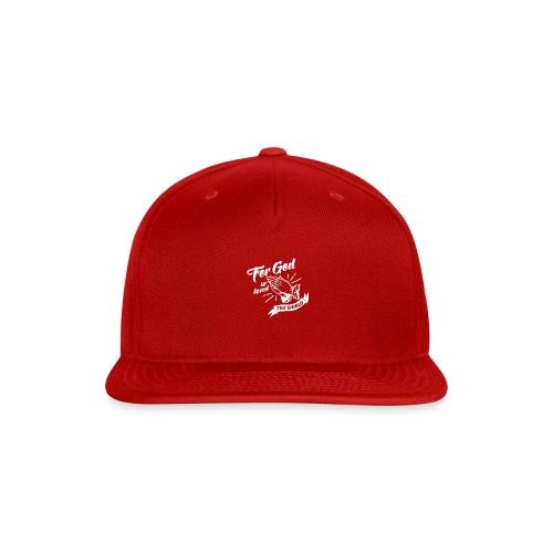 For God So Loved The World… - Alt. Design (White) - Snap-back Baseball Cap