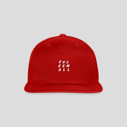 FUCKEMALL White Logo - Snap-back Baseball Cap