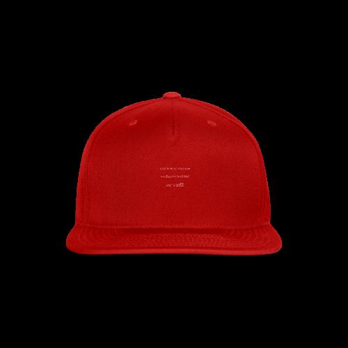 PutthisonWhite - Snap-back Baseball Cap