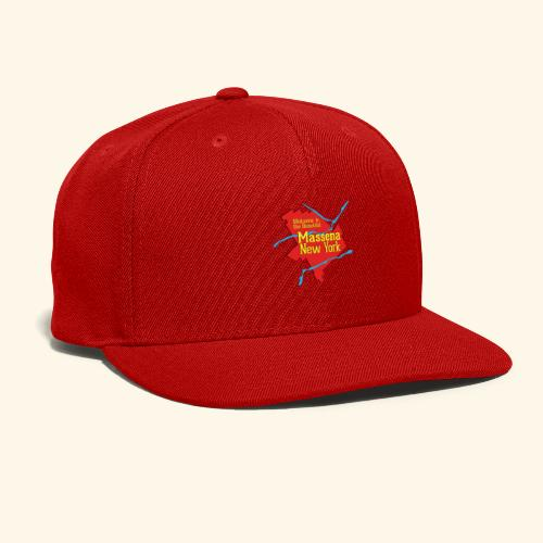 Massena NY Red - Snap-back Baseball Cap