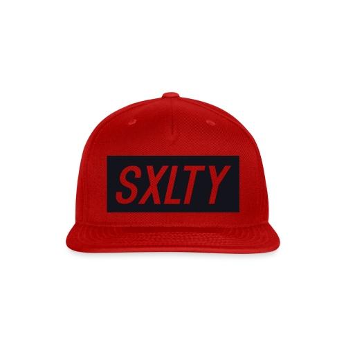 *Dark Blue SXLTY Logo* REGULAR TSHIRT. - Snap-back Baseball Cap